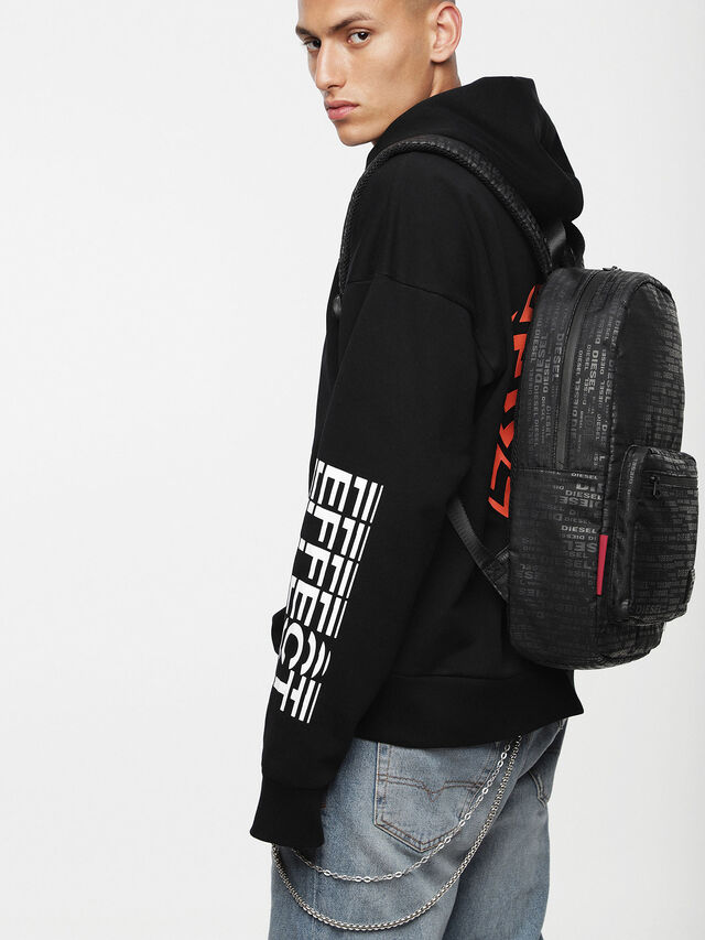 Diesel F-DISCOVER BACK, Black/Red - Backpacks - Image 4