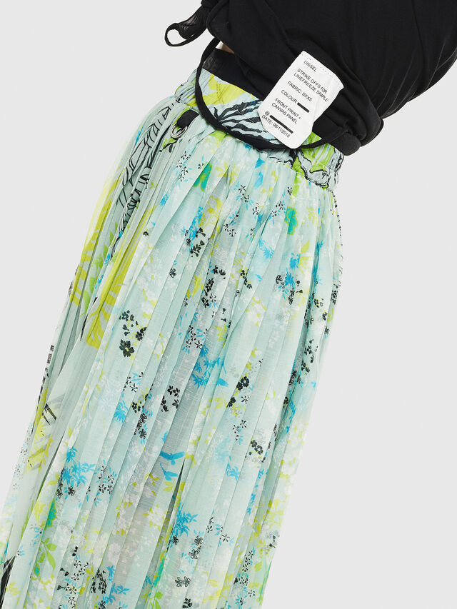 Diesel - O-PLIZ, Water Green - Skirts - Image 4