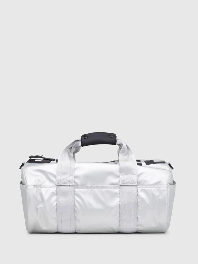 Diesel - F-BOLD DUFFLE FL, Silver - Travel Bags - Image 1