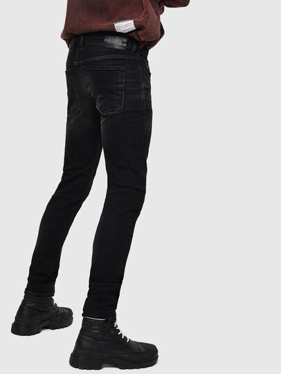 Diesel - Sleenker 0092B, Black/Dark grey - Jeans - Image 2