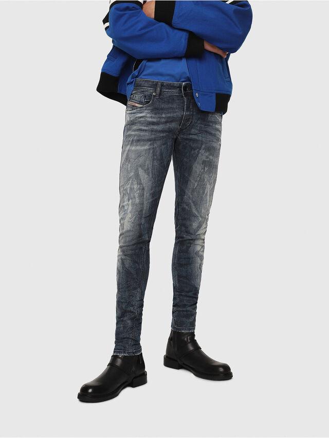 Diesel - Sleenker 069DH, Dark Blue - Jeans - Image 1