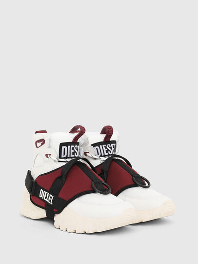 Diesel - S-SHARQUEZ MID, White/Red - Sneakers - Image 2
