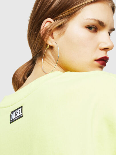 Diesel - F-AKUA, Yellow Fluo - Sweaters - Image 5
