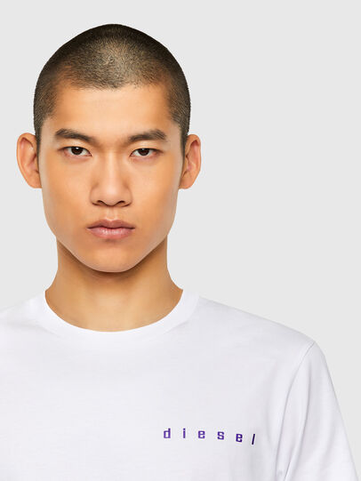 Diesel - T-JUST-N44, White - T-Shirts - Image 3