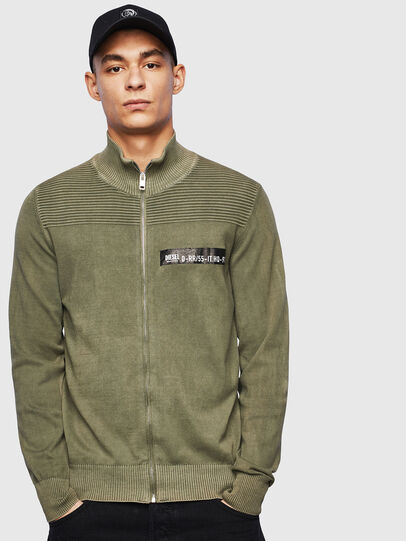 Diesel - K-FRECCY, Military Green - Knitwear - Image 1
