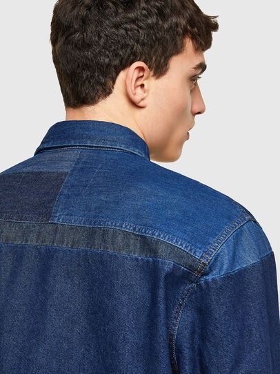 Diesel - D-HORUS, Blue - Denim Shirts - Image 4