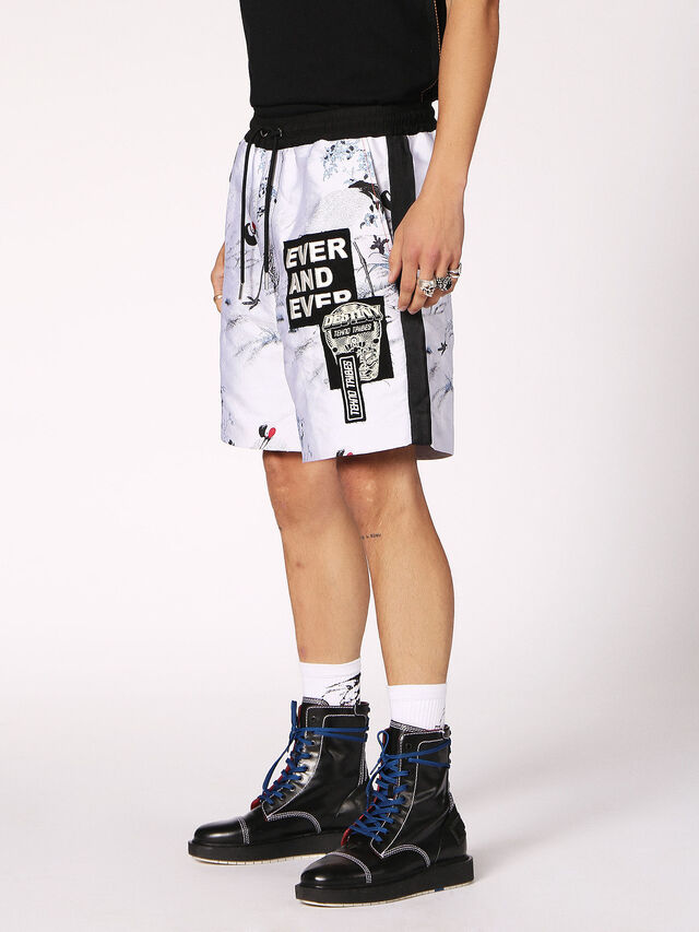 Diesel P-GROUND, White - Shorts - Image 3