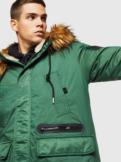 Diesel - W-BULLISK, Dark Green - Winter Jackets - Image 5