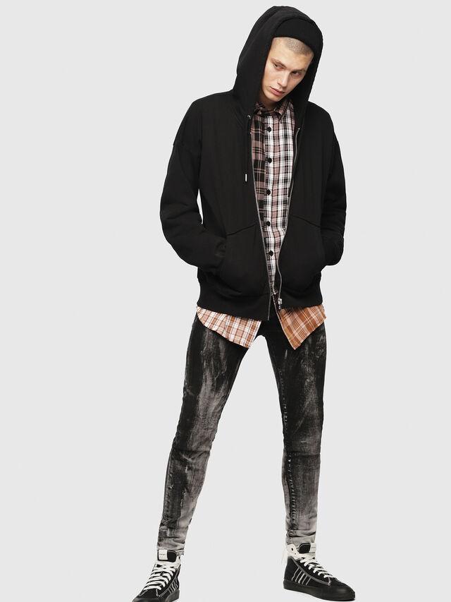 Diesel - S-ALBY-ZIP-YB, Black - Sweaters - Image 1
