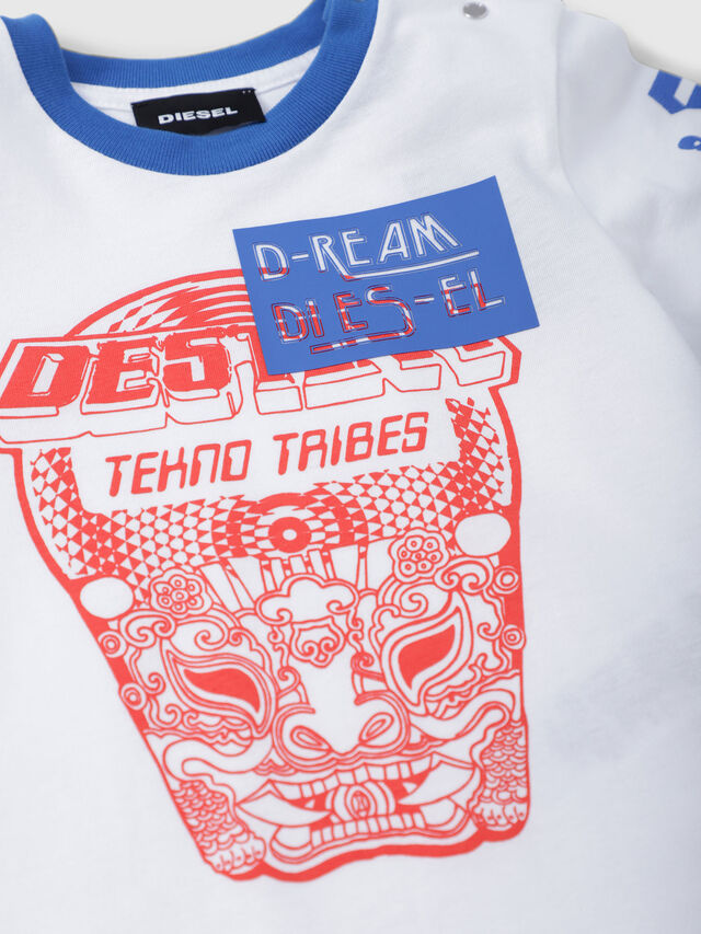 Diesel - TENNUB, White/Red/Blu - T-shirts and Tops - Image 3