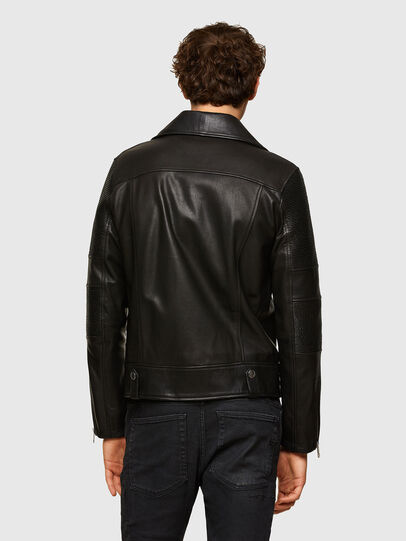Diesel - L-STARKVILLE, Black - Leather jackets - Image 2