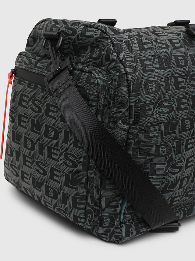 Diesel - F-DISCOVER DUFFLE, Black/Green - Travel Bags - Image 3