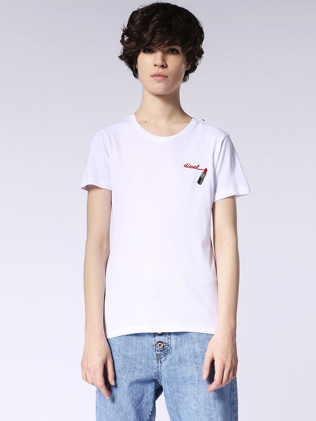 Diesel - T-SILY-F, White - T-Shirts - Image 2