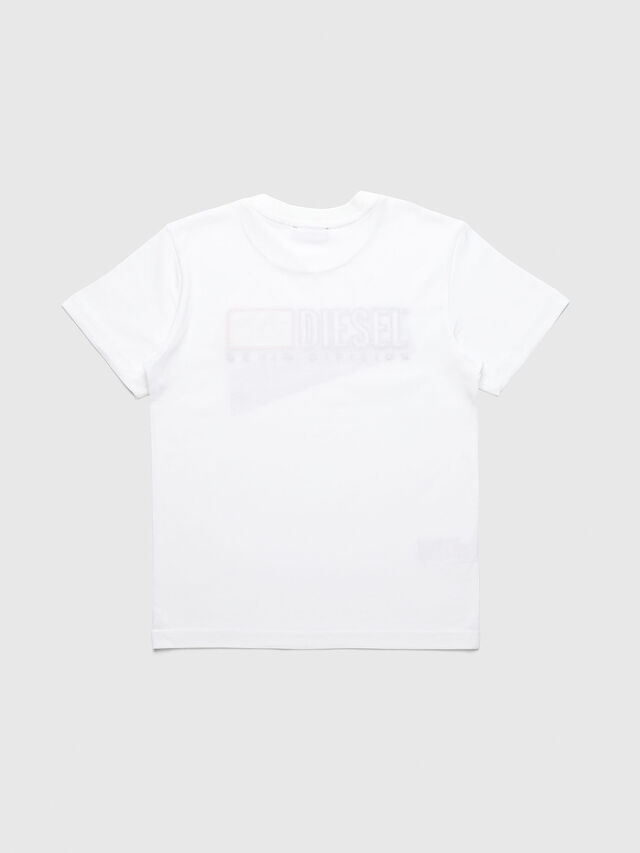 Diesel - UN-K-TJUSTDIVISION-A, White - T-shirts and Tops - Image 2