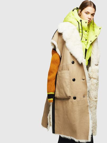 Diesel - L-IRTA, Beige - Leather jackets - Image 6
