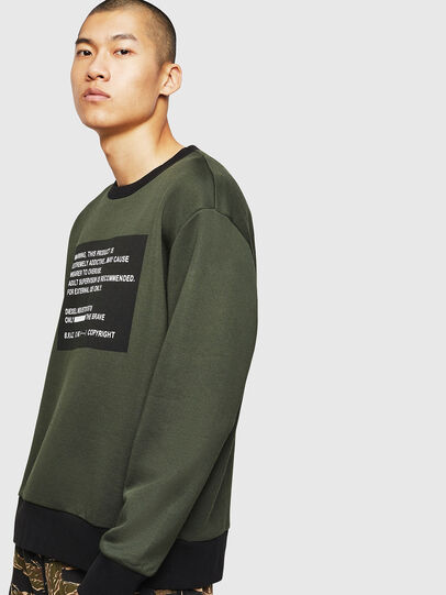 Diesel - S-BAY-MESH, Dark Green - Sweaters - Image 5