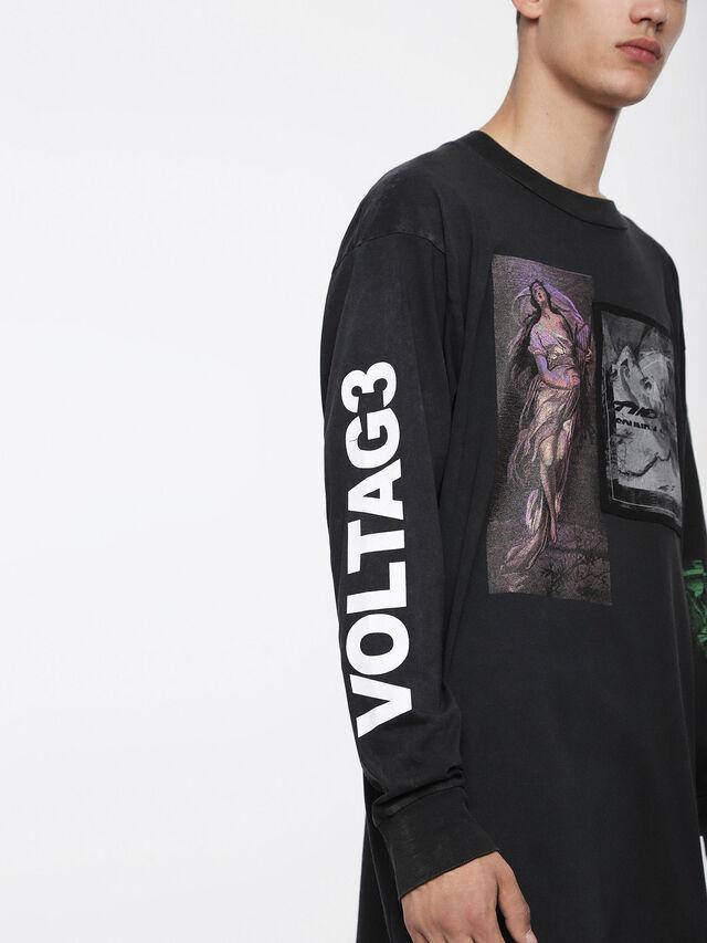 Diesel - T-LUCAS-LS-XF, Black - T-Shirts - Image 3