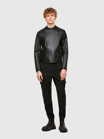 Diesel - L-LIAM, Black - Leather jackets - Image 6