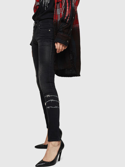 Diesel - Slandy Low 069GH, Black/Dark grey - Jeans - Image 5
