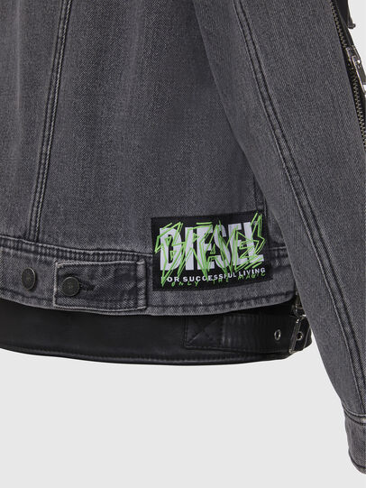 Diesel - L-IVAN, Black - Leather jackets - Image 6