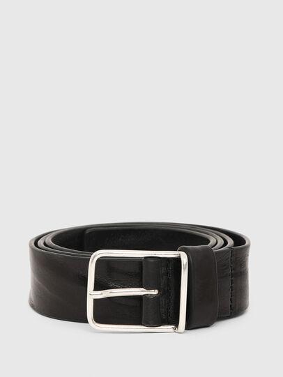 Diesel - B-SILVER, Black - Belts - Image 1