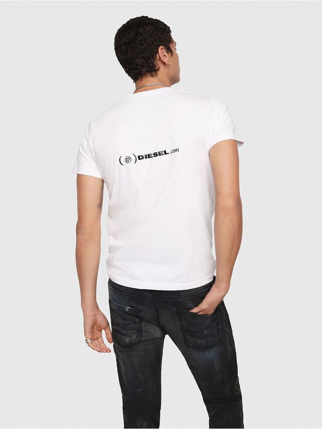 Diesel - CL-T-GADIE, White - T-Shirts - Image 3