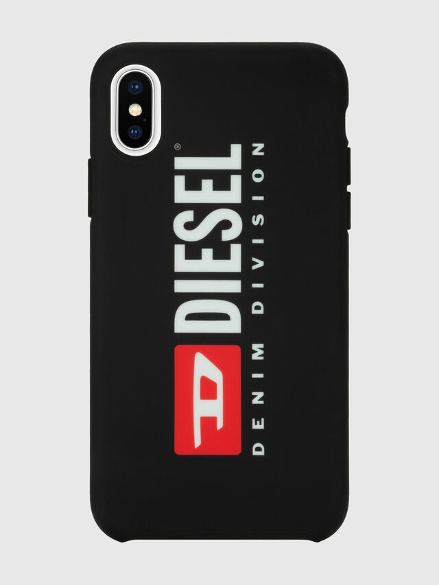 Diesel - DIESEL PRINTED CO-MOLD CASE FOR IPHONE XS & IPHONE X, Black/White - Cases - Image 2