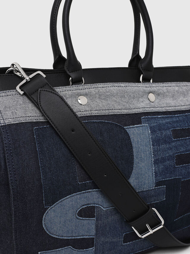 Diesel - F-DESTAR SHOPPER M, Blue Jeans - Shopping and Shoulder Bags - Image 3