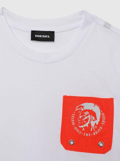 Diesel - TLARS, White/Orange - T-shirts and Tops - Image 3