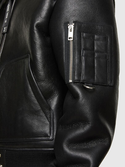 Diesel - L-ARNOLD, Black - Leather jackets - Image 5