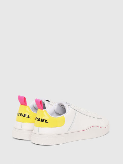 Diesel - S-CLEVER LOW LACE W, White/Yellow - Sneakers - Image 3