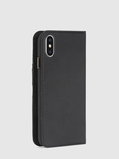 Diesel - BLACK DENIM/STUD/ZIPPER IPHONE X FOLIO,  - Flip covers - Image 5