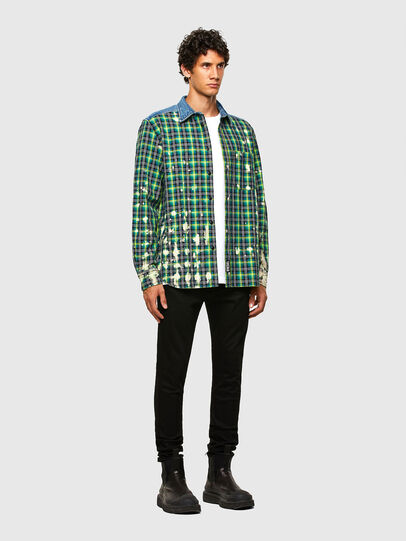 Diesel - S-MOON-CHECK, Green - Shirts - Image 5