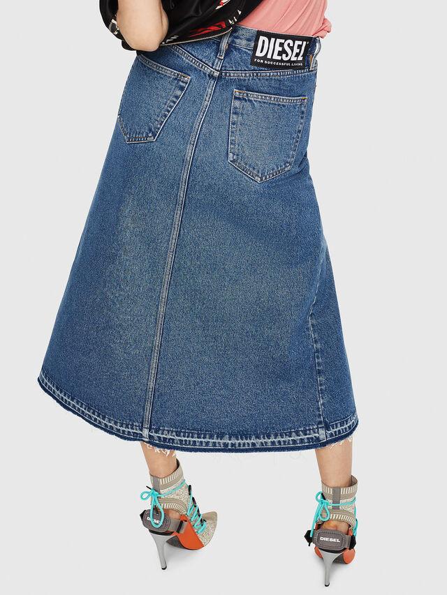 Diesel - DE-VYVIEN, Medium blue - Skirts - Image 2