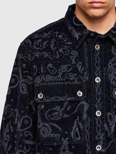 Diesel - D-JESSY-SP1, Dark Blue - Denim Shirts - Image 4