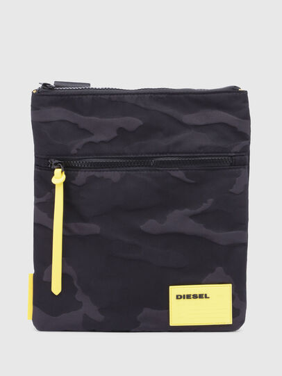 Diesel - F-DISCOVER CROSS, Black/Yellow - Crossbody Bags - Image 1