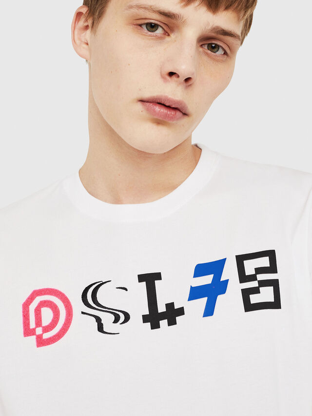 Diesel - T-JUST-Y17, White - T-Shirts - Image 3