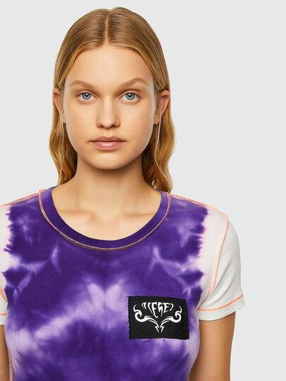 Diesel - T-SUPERY-V10, White/Violet - T-Shirts - Image 3
