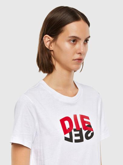 Diesel - T-SILY-V23, White - T-Shirts - Image 3