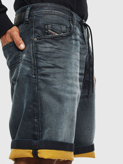 Diesel - D-WILLOH CB JOGGJEANS, Dark Blue - Shorts - Image 3