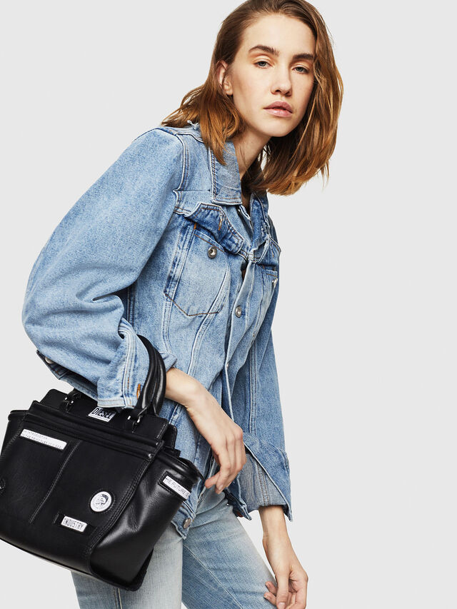 Diesel - LE-ZIPPER SATCHEL S, Black - Shopping and Shoulder Bags - Image 5