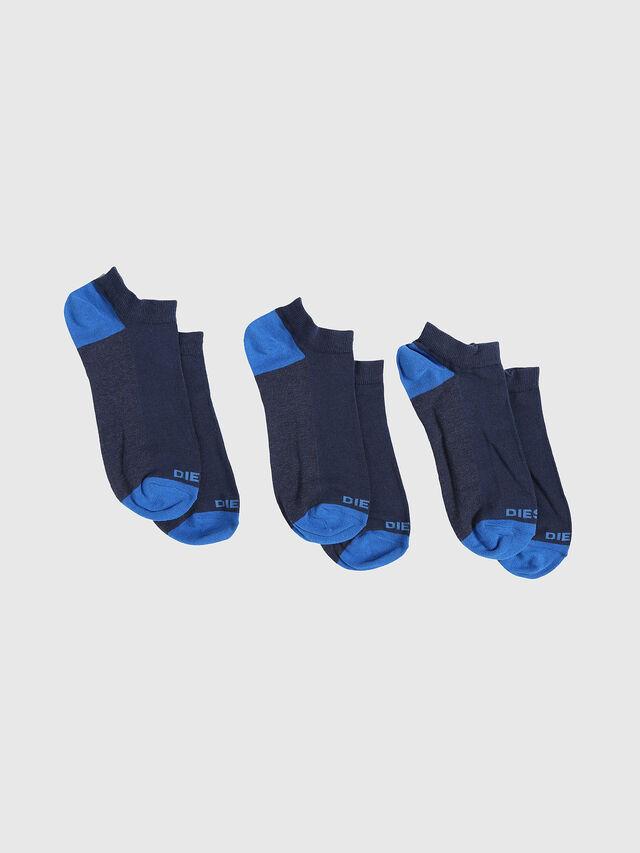 Diesel - SKM-GOST-THREEPACK, Indigo - Low-cut socks - Image 1