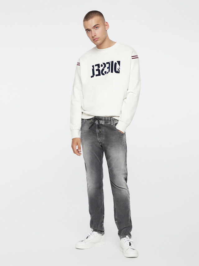 Diesel - Krooley JoggJeans 0855B, Light Grey - Jeans - Image 4