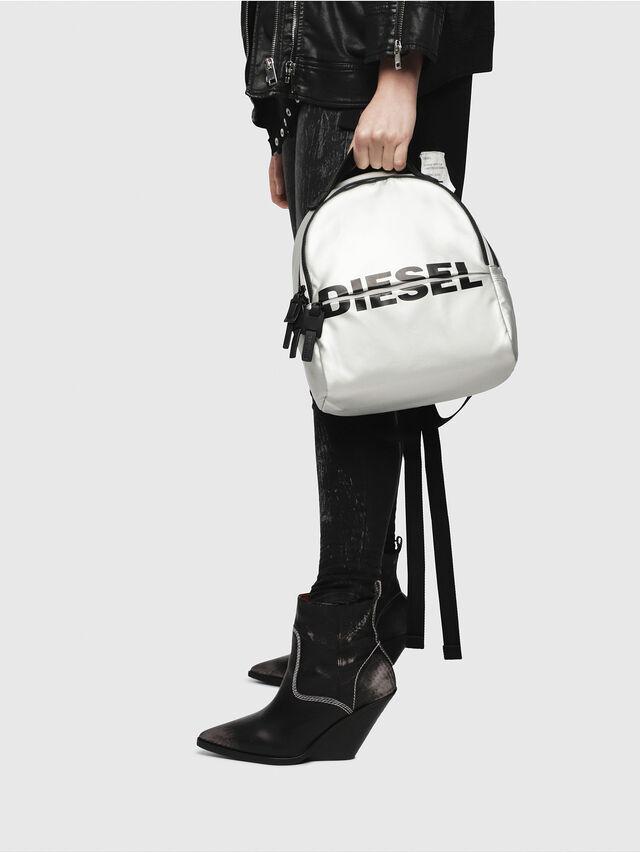 Diesel - F-BOLD BACK FL, Silver - Backpacks - Image 5