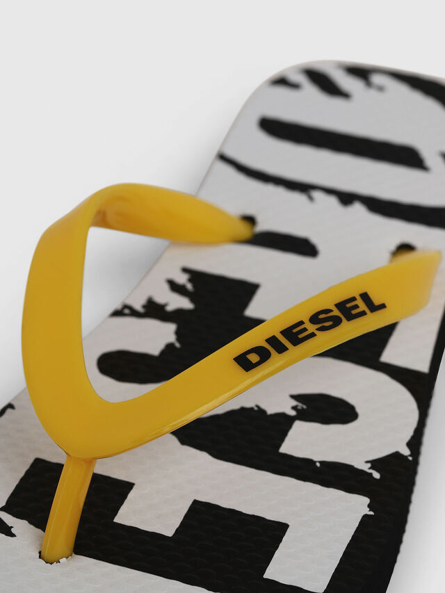 Diesel - FF 22 FLIPPER YO, Black/White - Footwear - Image 3