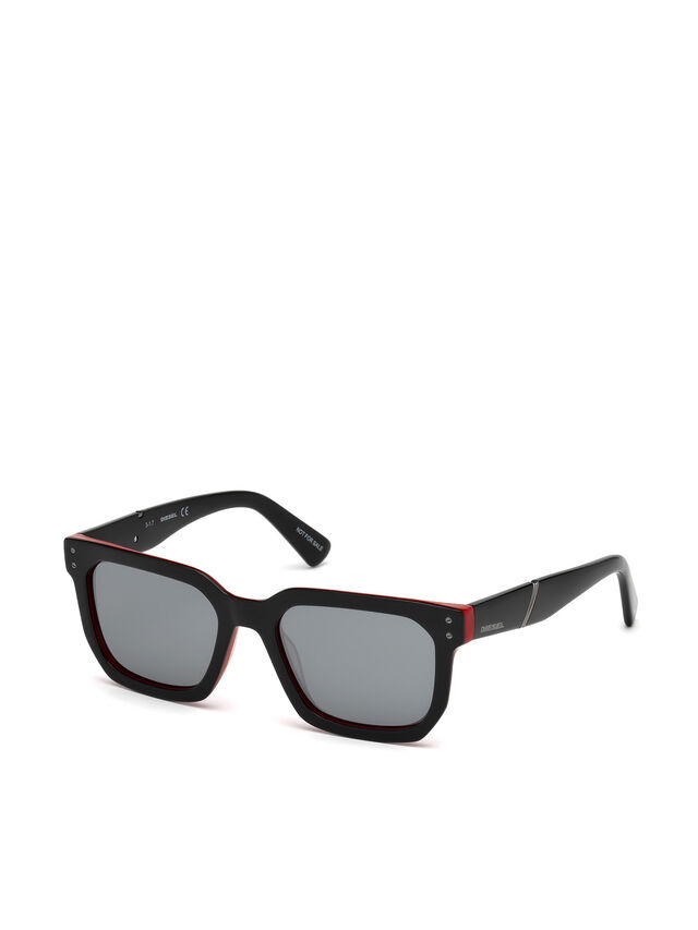 Diesel DL0253, Black/Red - Eyewear - Image 4
