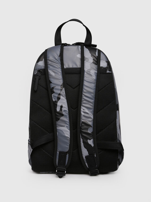Diesel - F-BOLD BACK, Grey Melange - Backpacks - Image 2