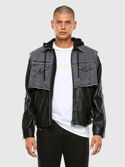 Diesel - L-IVAN, Black - Leather jackets - Image 7