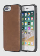 BROWN LEATHER IPHONE 8 PLUS/7 PLUS/6s PLUS/6 PLUS CASE, Brown - Cases