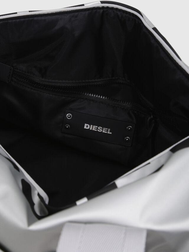 Diesel - F-BOLD DUFFLE FL, Silver - Travel Bags - Image 3